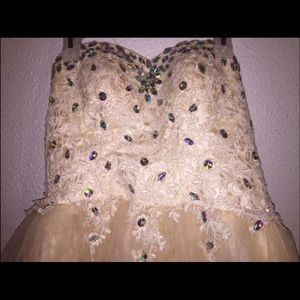 Cream color homecoming/party dress